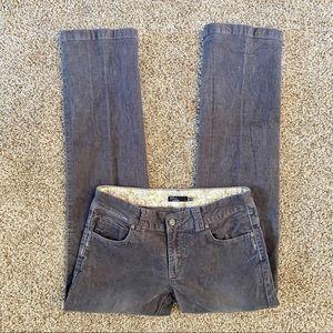 Prana Corduroy Pants Straight Leg Gray 6